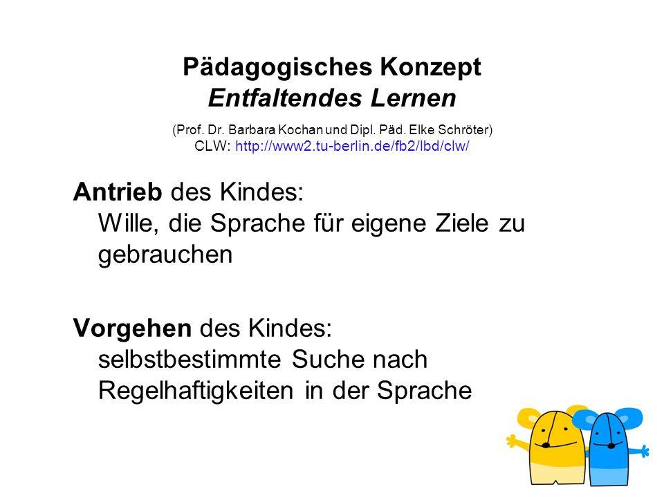 Pädagogisches Konzept Entfaltendes Lernen (Prof. Dr