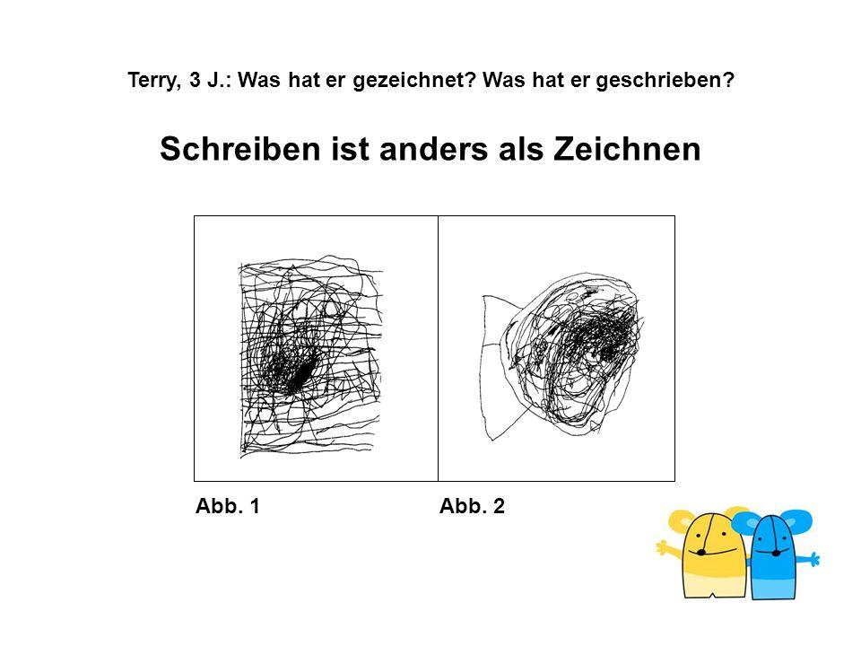 Terry, 3 J.: Was hat er gezeichnet Was hat er geschrieben