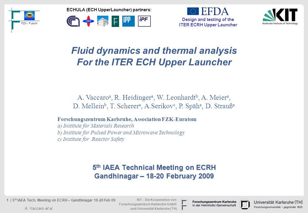 5th IAEA Technical Meeting on ECRH Gandhinagar – 18-20 February 2009