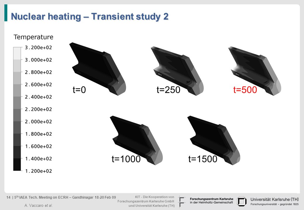 Nuclear heating – Transient study 2