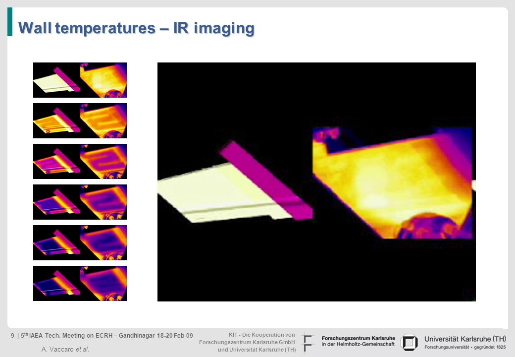 Wall temperatures – IR imaging