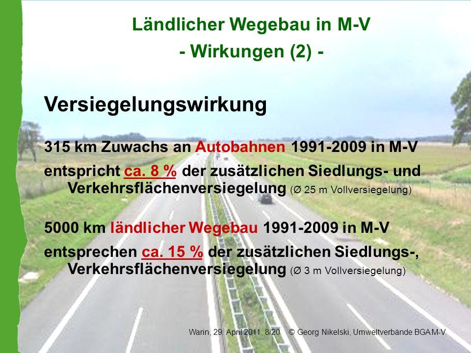 Ländlicher Wegebau in M-V