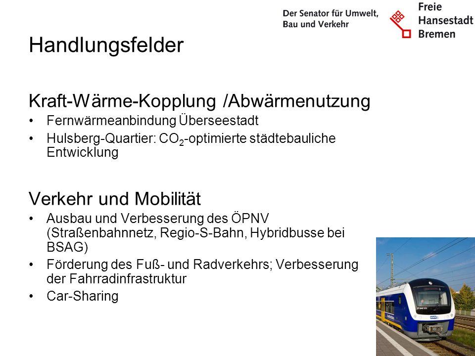Handlungsfelder Kraft-Wärme-Kopplung /Abwärmenutzung