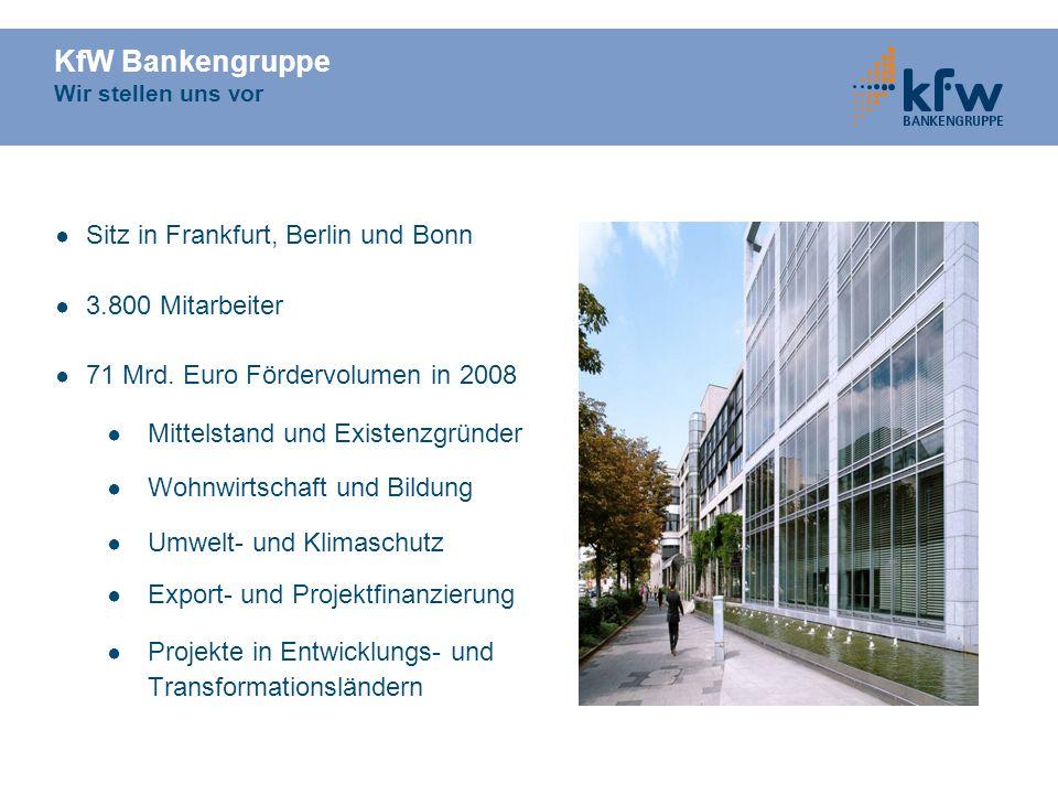 KfW Bankengruppe Wir stellen uns vor