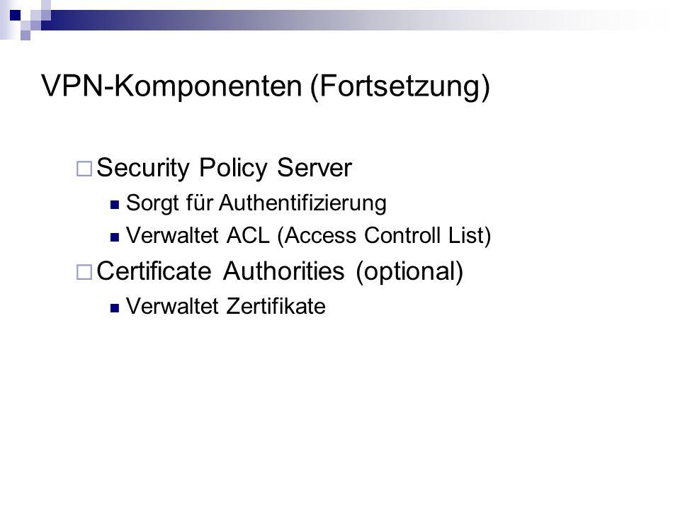 VPN-Komponenten (Fortsetzung)