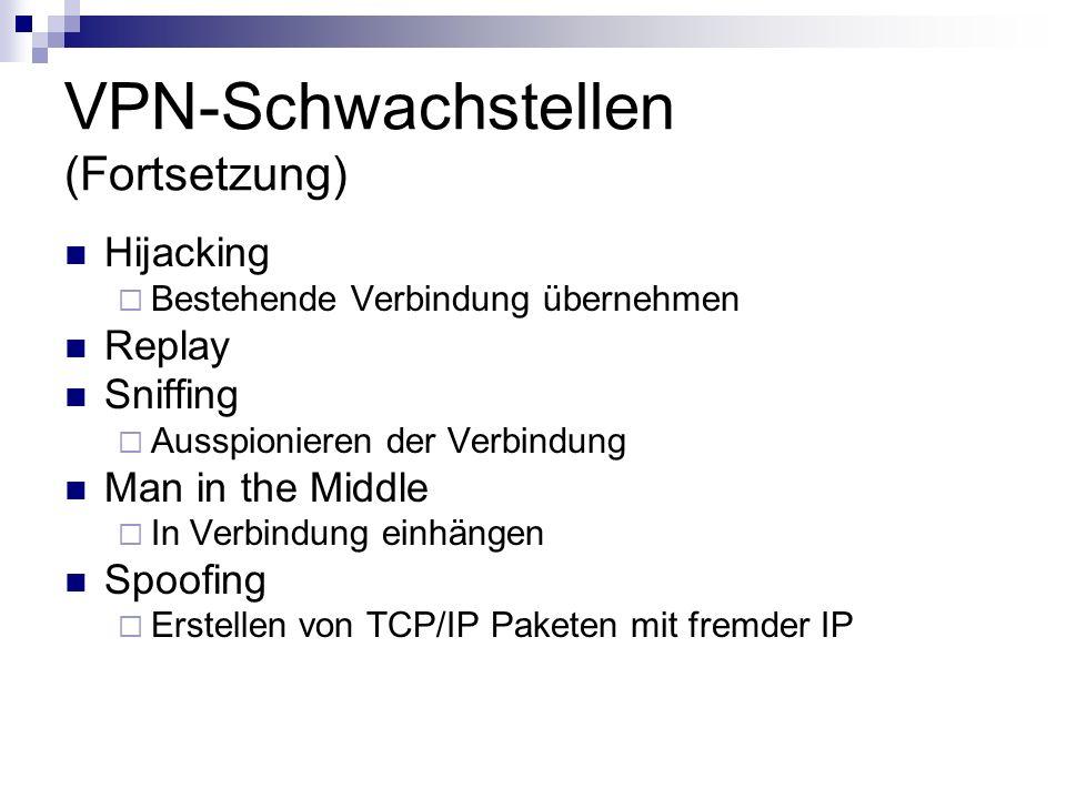 VPN-Schwachstellen (Fortsetzung)