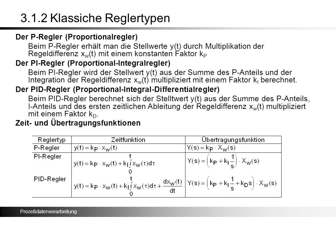3.1.2 Klassiche Reglertypen