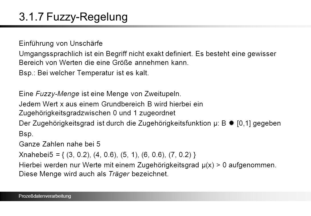 3.1.7 Fuzzy-Regelung Einführung von Unschärfe