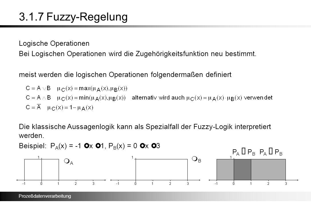 3.1.7 Fuzzy-Regelung Logische Operationen
