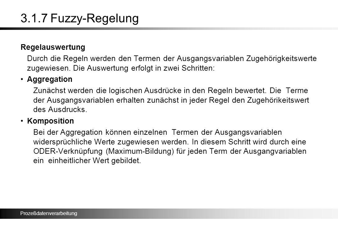 3.1.7 Fuzzy-Regelung Regelauswertung