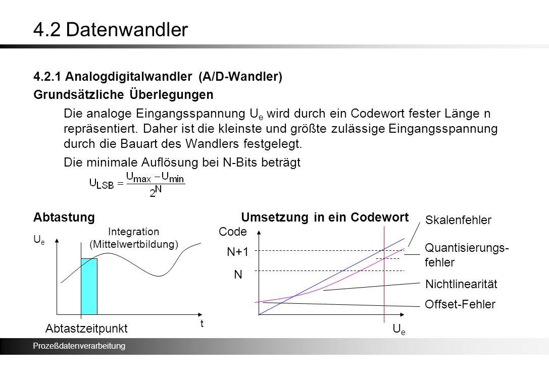 4.2 Datenwandler 4.2.1 Analogdigitalwandler (A/D-Wandler)