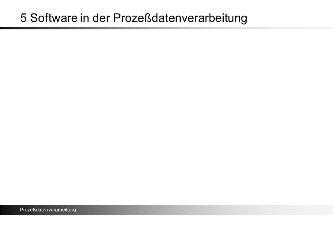 5 Software in der Prozeßdatenverarbeitung