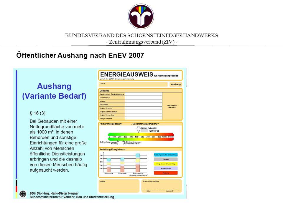 Öffentlicher Aushang nach EnEV 2007