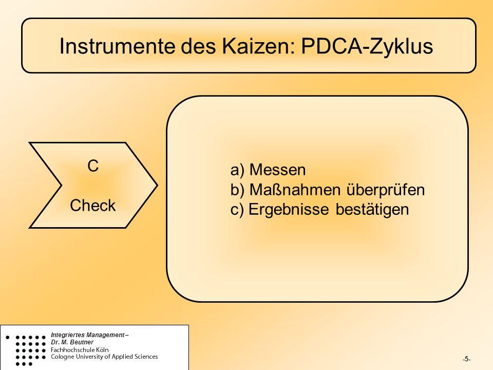 Instrumente des Kaizen: PDCA-Zyklus