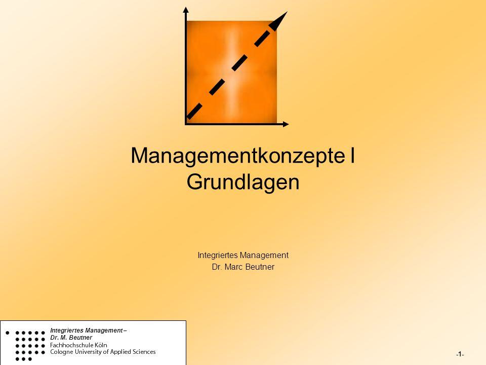 Managementkonzepte I Grundlagen