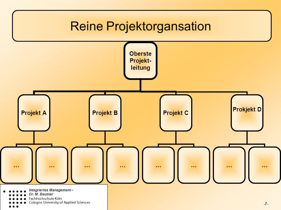 Reine Projektorgansation