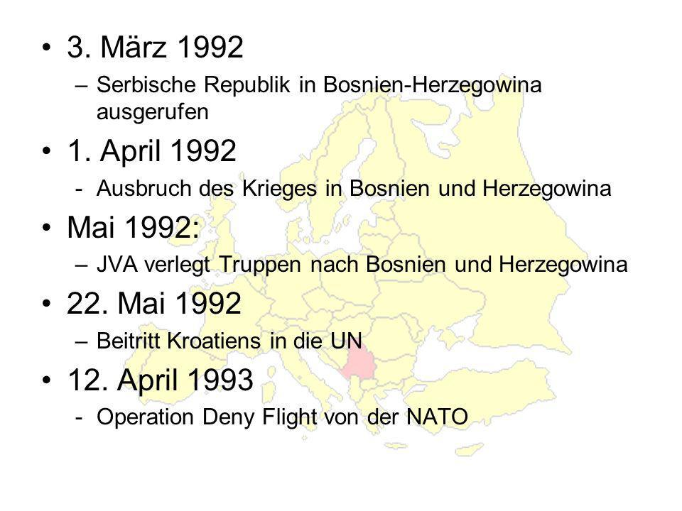 3. März 1992 1. April 1992 Mai 1992: 22. Mai 1992 12. April 1993