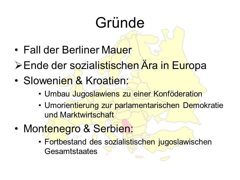 Gründe Fall der Berliner Mauer Ende der sozialistischen Ära in Europa