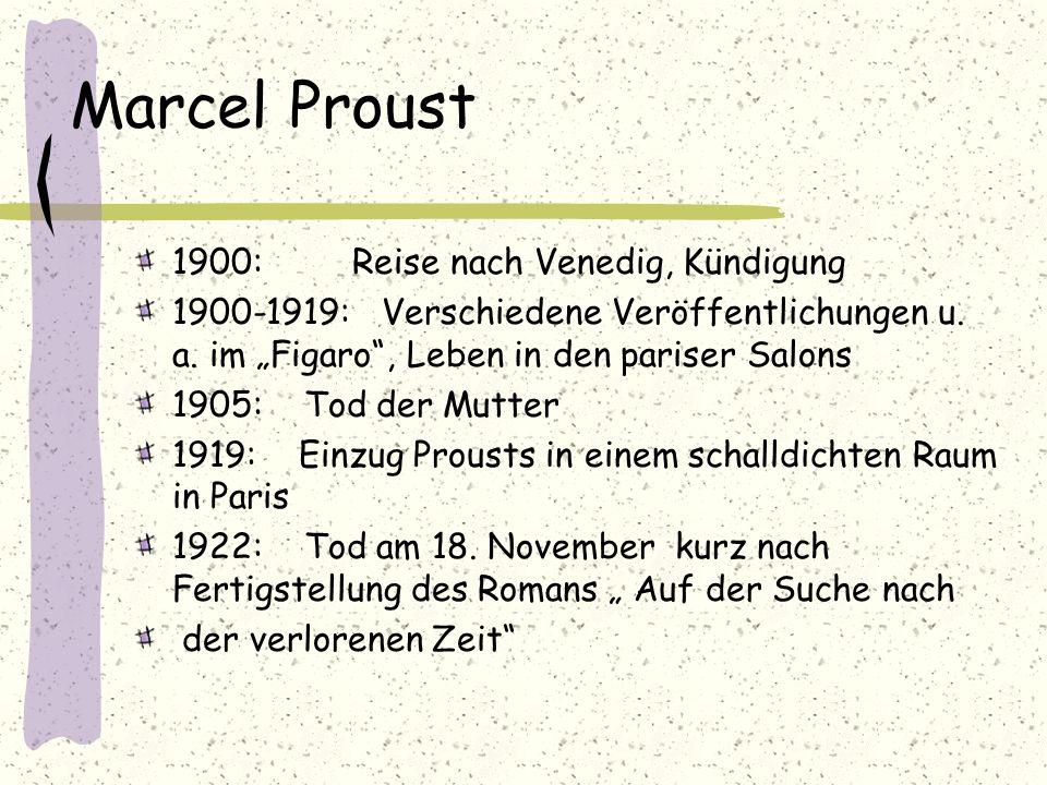 Marcel Proust 1900: Reise nach Venedig, Kündigung