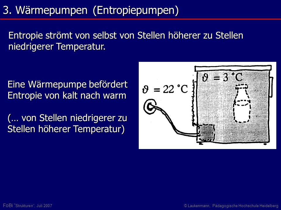 3. Wärmepumpen (Entropiepumpen)
