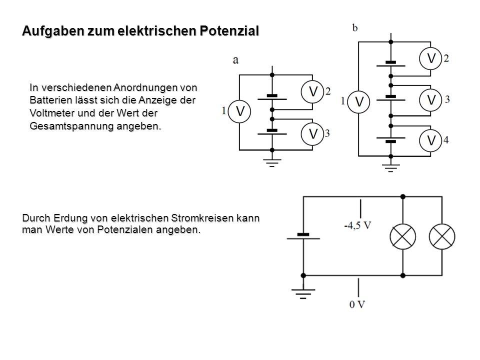 Aufgaben zum elektrischen Potenzial