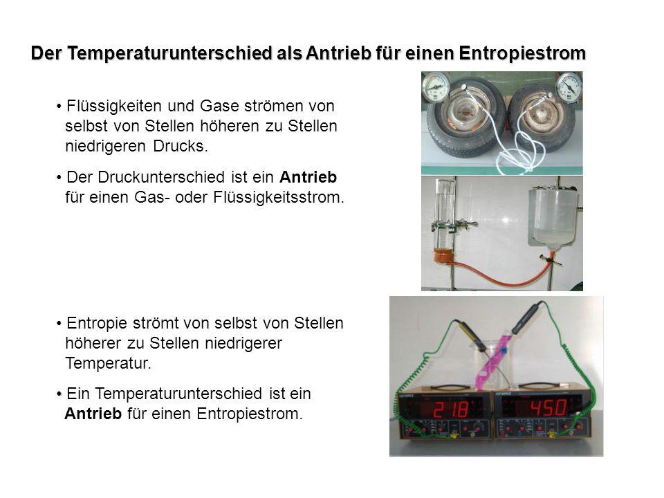 Der Temperaturunterschied als Antrieb für einen Entropiestrom