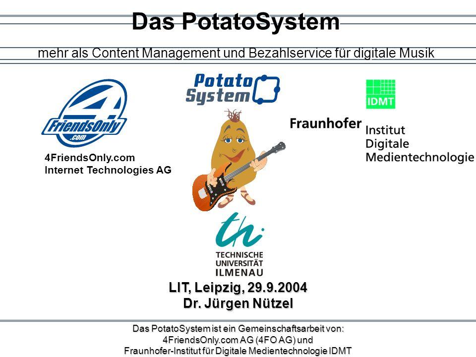 Das PotatoSystem mehr als Content Management und Bezahlservice für digitale Musik