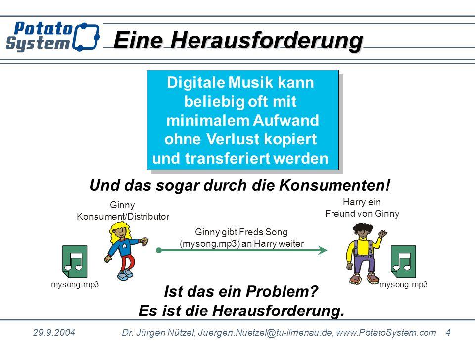 Eine Herausforderung Digitale Musik kann beliebig oft mit