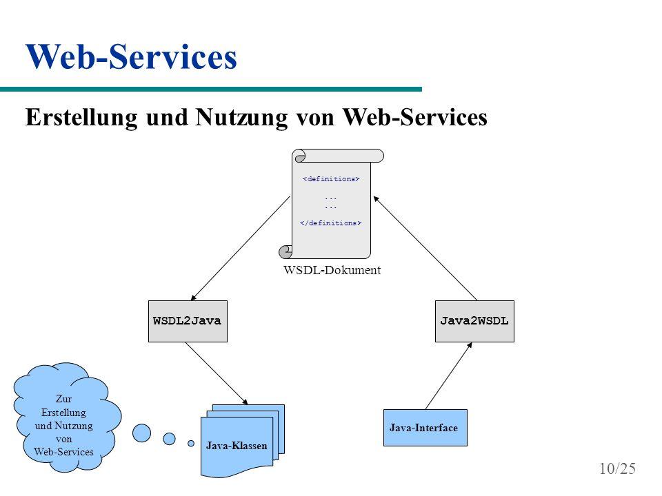 Web-Services Erstellung und Nutzung von Web-Services 10/25