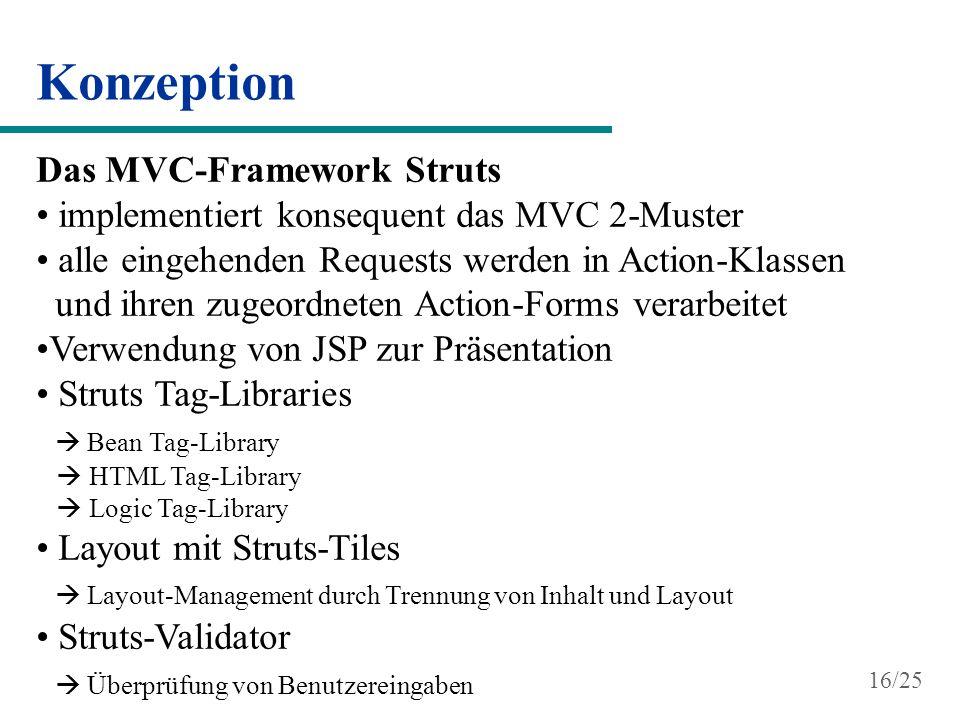 Konzeption Das MVC-Framework Struts
