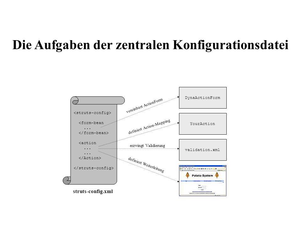 Die Aufgaben der zentralen Konfigurationsdatei