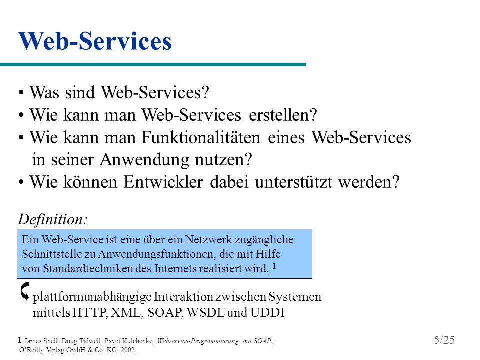 Web-Services Was sind Web-Services