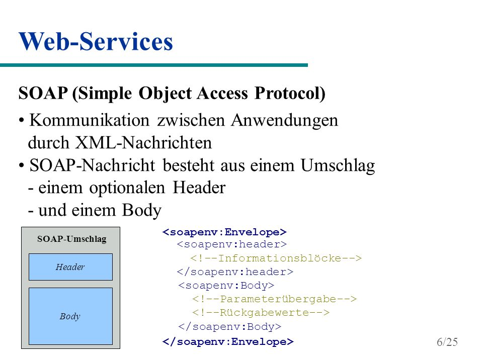 Web-Services SOAP (Simple Object Access Protocol)