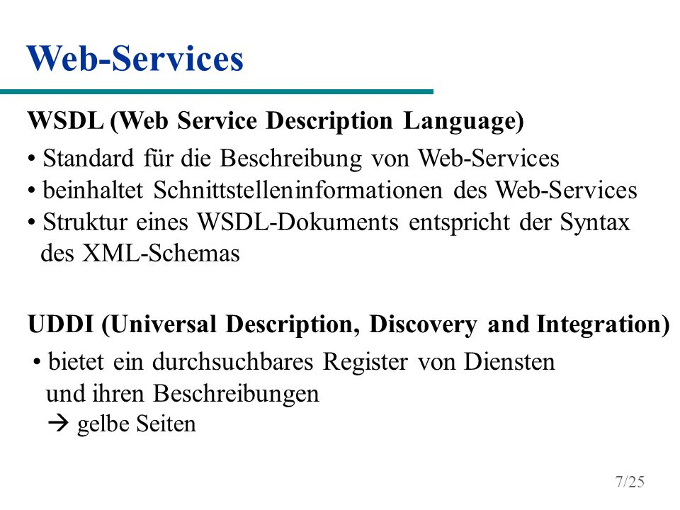 Web-Services WSDL (Web Service Description Language)