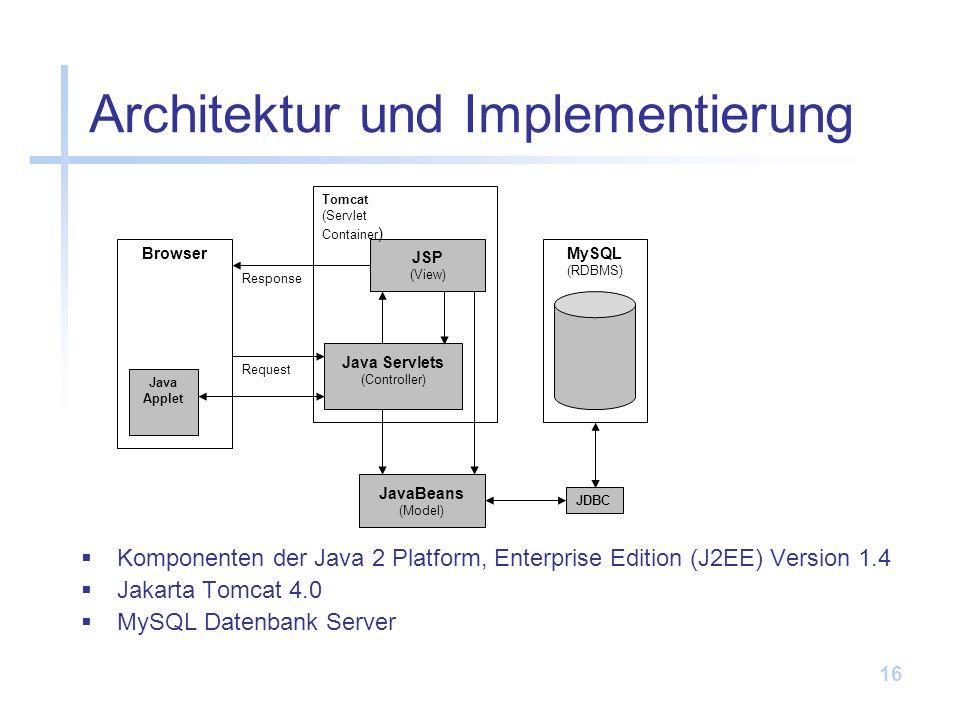 Architektur und Implementierung