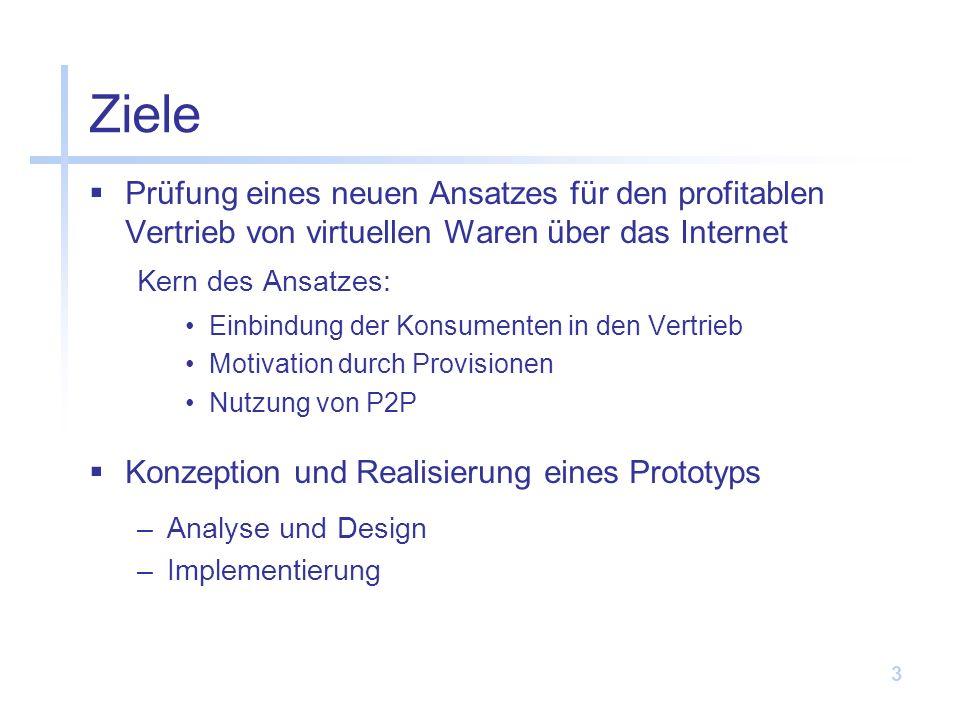 Ziele Prüfung eines neuen Ansatzes für den profitablen Vertrieb von virtuellen Waren über das Internet.