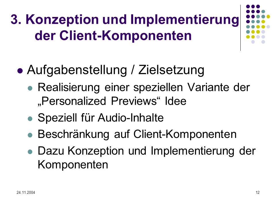 3. Konzeption und Implementierung der Client-Komponenten