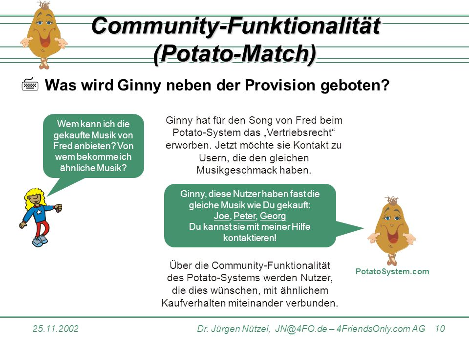 Community-Funktionalität (Potato-Match)