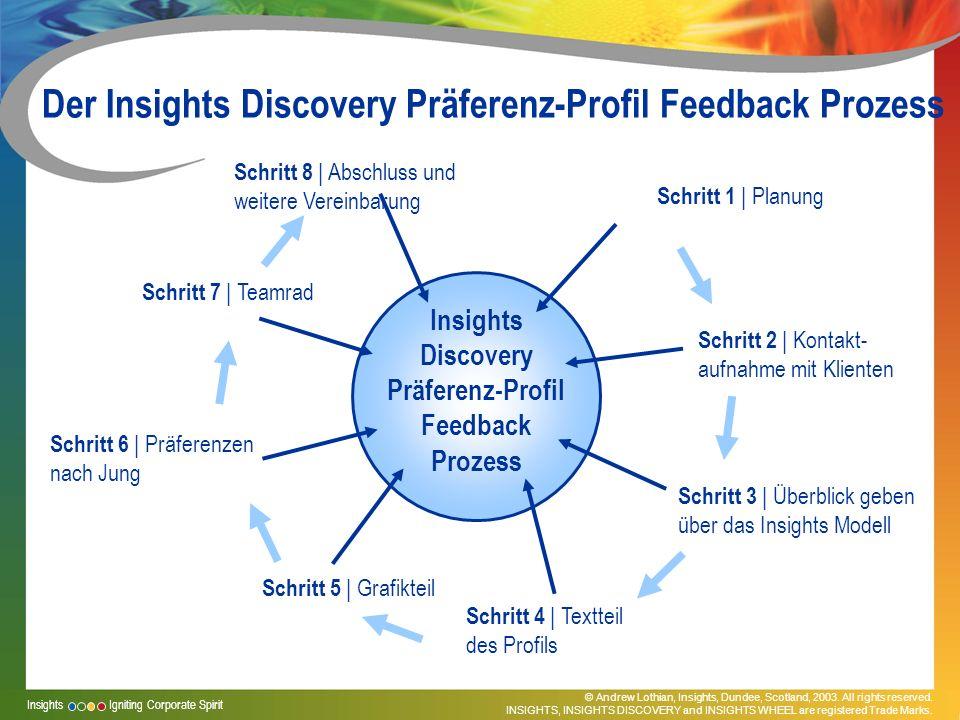 Der Insights Discovery Präferenz-Profil Feedback Prozess