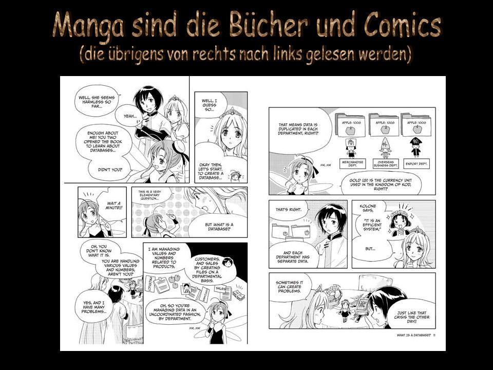 Manga sind die Bücher und Comics