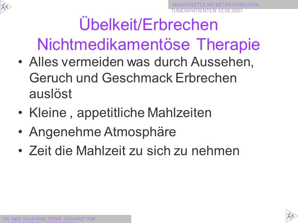 Übelkeit/Erbrechen Nichtmedikamentöse Therapie