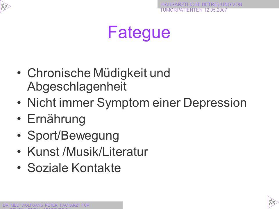 Fategue Chronische Müdigkeit und Abgeschlagenheit