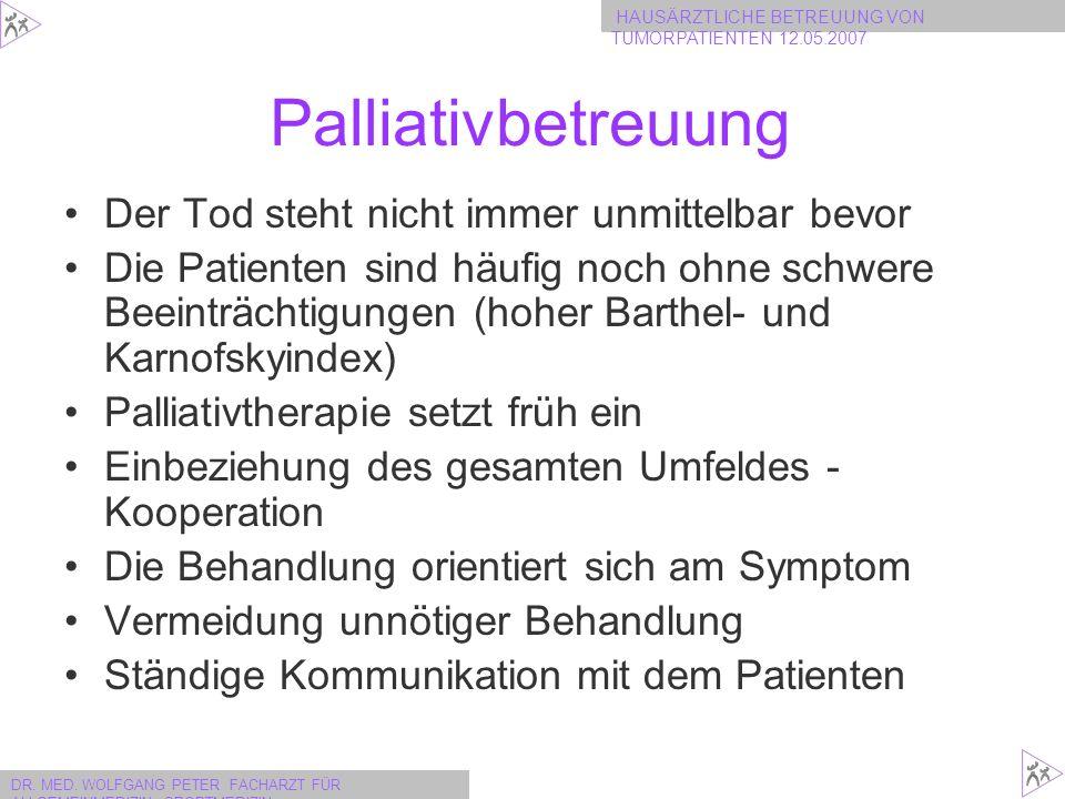 Palliativbetreuung Der Tod steht nicht immer unmittelbar bevor