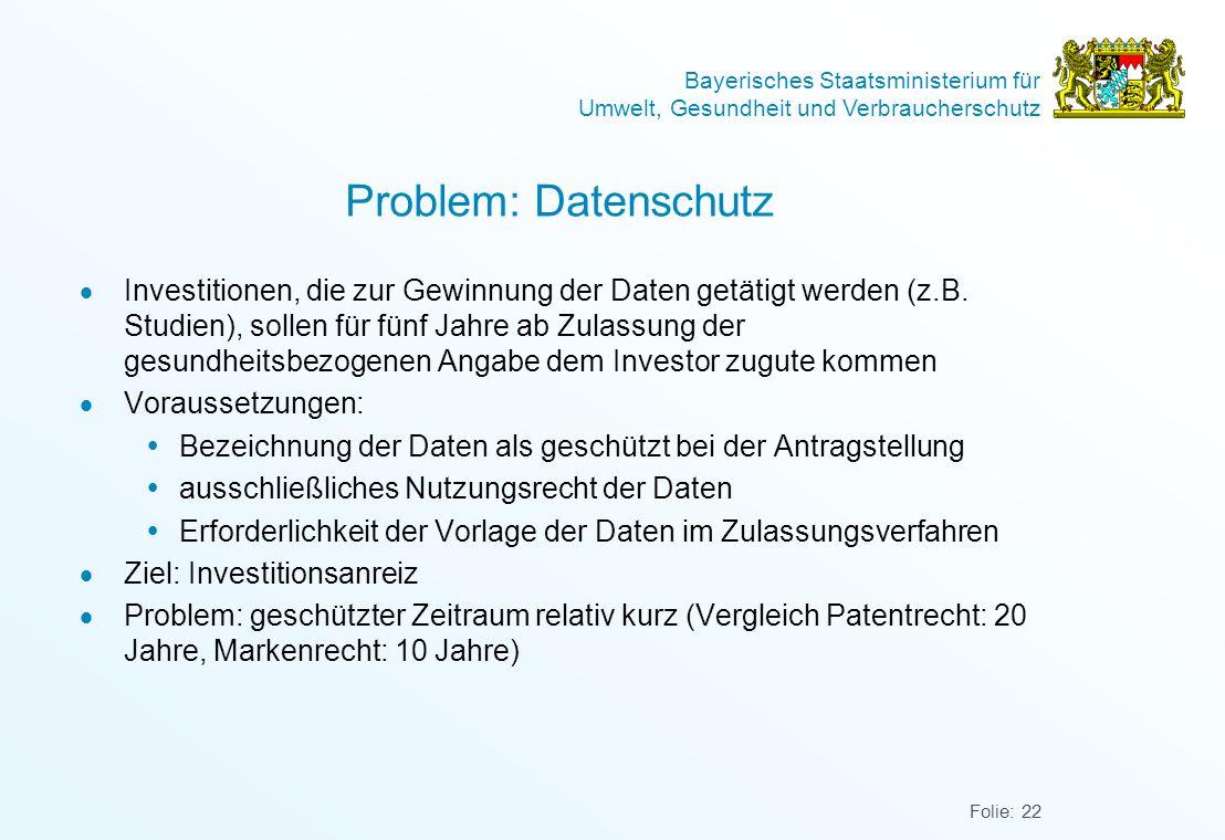 Problem: Datenschutz