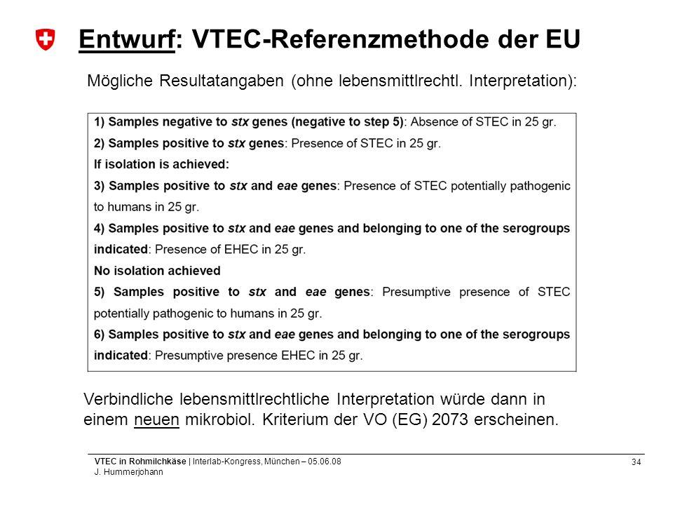 Entwurf: VTEC-Referenzmethode der EU