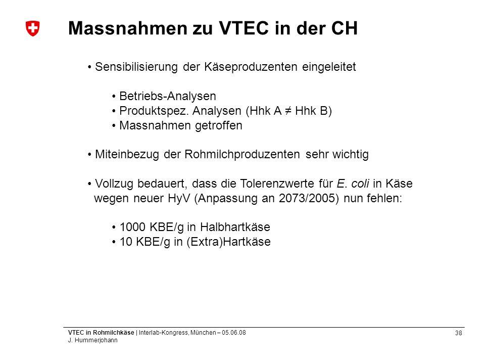 Massnahmen zu VTEC in der CH