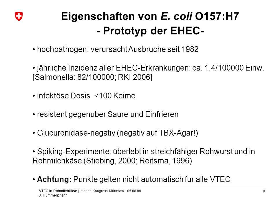 Eigenschaften von E. coli O157:H7 - Prototyp der EHEC-