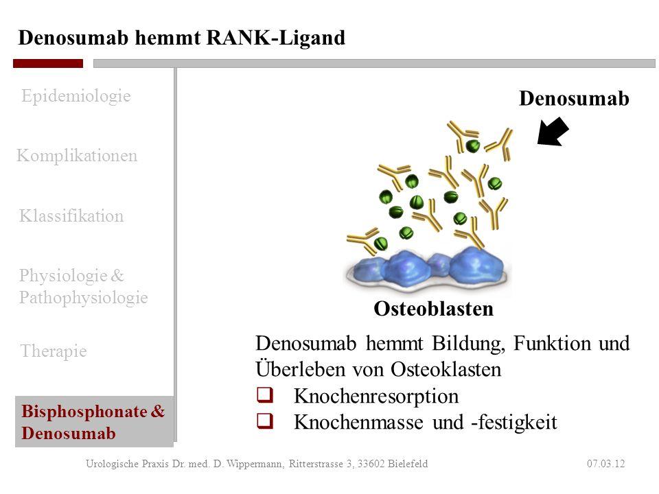 Denosumab hemmt RANK-Ligand