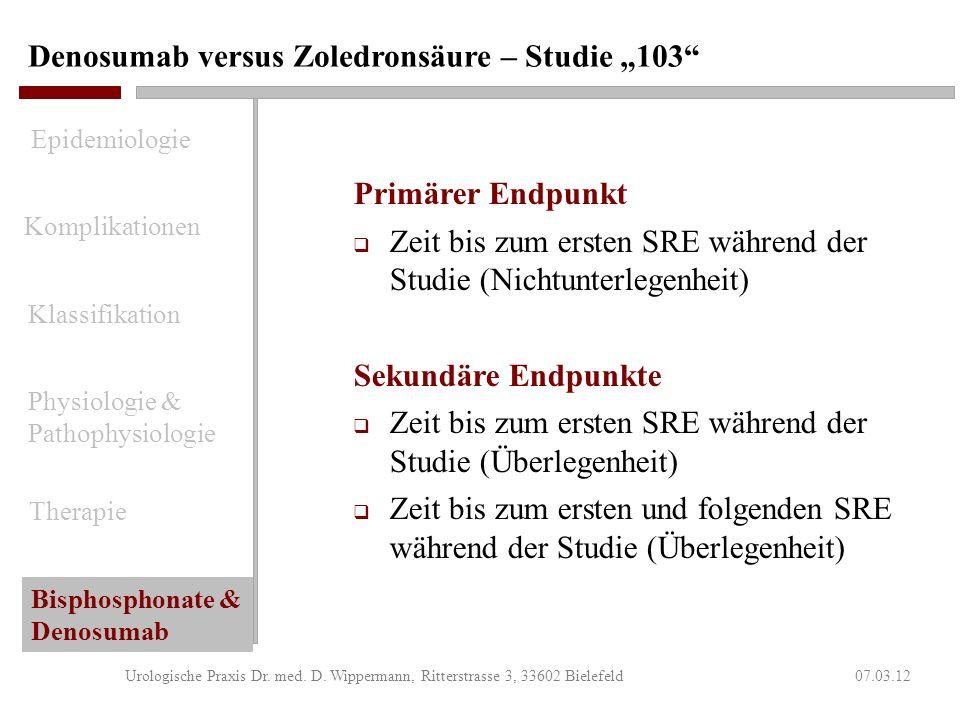 """Denosumab versus Zoledronsäure – Studie """"103"""