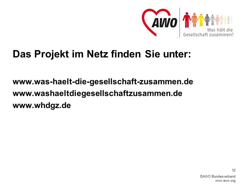 Das Projekt im Netz finden Sie unter: